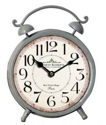 Orologio da tavolo ferro grigio Paris