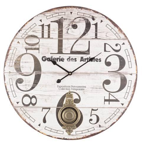 Orologio parete legno con pendolo galerie des artistes cm58