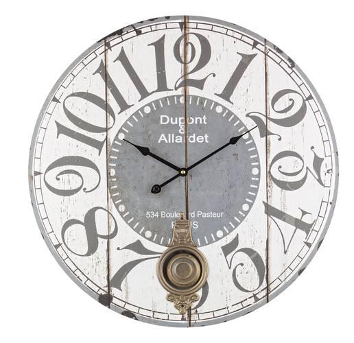 Orologio parete legno con pendolo stampa boulevard cm58