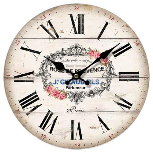 Orologio legno parete stampa rose Provence cm 34
