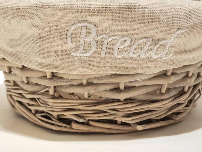 Cestino paniere vimini grigio Bread tondo