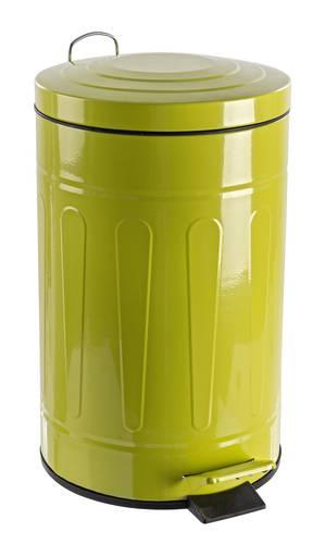 Pattumiera verde con pedale 12L