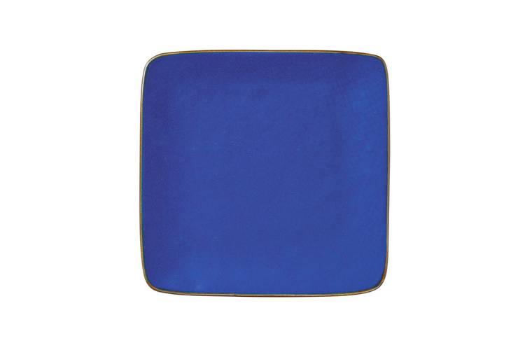 Piattino quadrato blu porcellana collezione mediterraneo