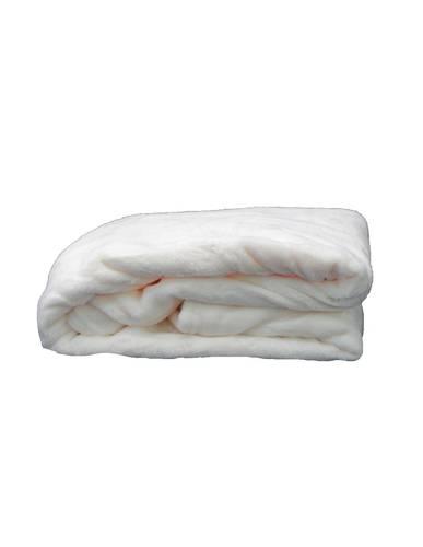 Plaid finesse morbido vellutato bianco 170x250