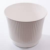 Porta vaso latta bianca righe verticali cm26x21h