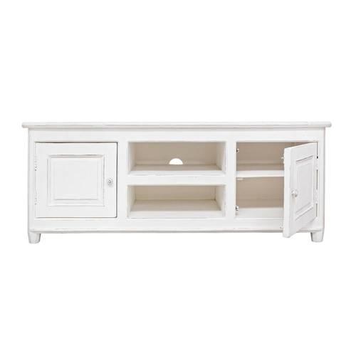 Porta Tv legno bianco provenzale