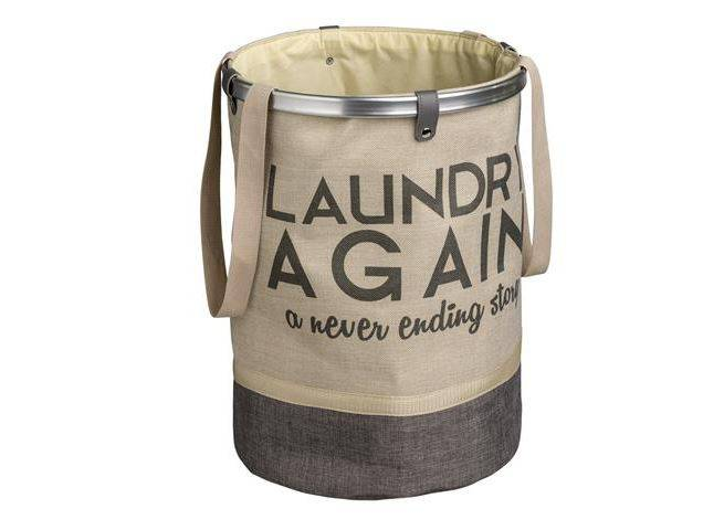 Portabiancheria laundry bag sacca tonda sabbia-tortora