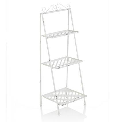 Portafiori scaletta ferro bianco 3 piani