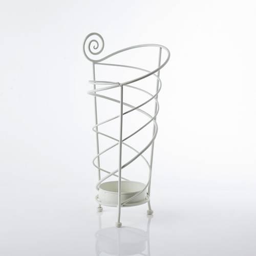 Portaombrelli spirale bianca