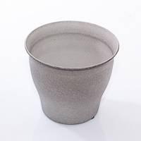 Porta vaso latta anticata grigio cm20x17h