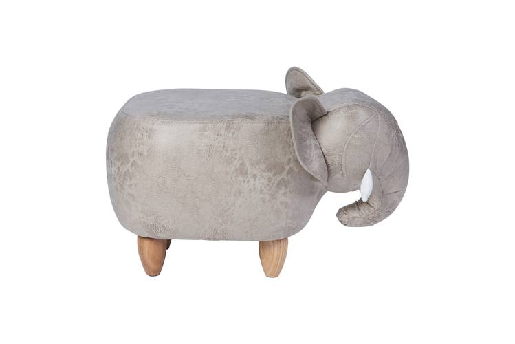 Pouf elefante ecopelle grigio