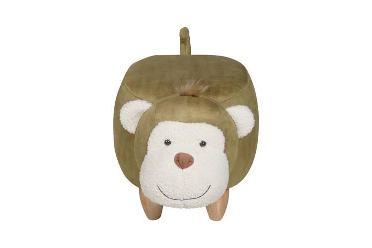 Pouf scimmia ecopelle verde