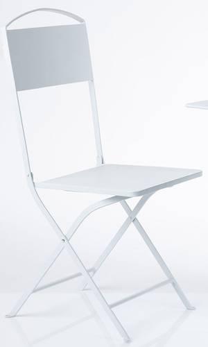 Sedia ferro bianco liscio pieghevole