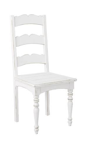 Sedia legno bianca provenza