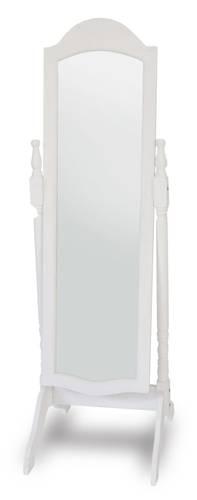 Specchio con piede basculante cornice legno bianco