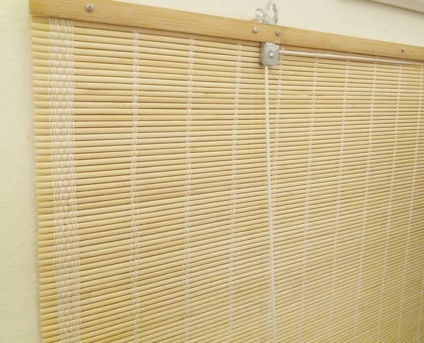Tenda bambu' piatto naturale avvolgibile