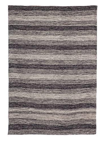 Tappeto cotone righe grigio nero 140x200