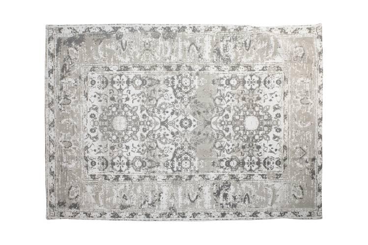 Tappeto cotone grigio decoro vintage 120x180