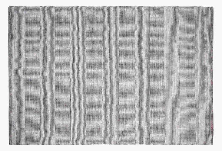 Tappeto lana disegual filo rosso 160x240