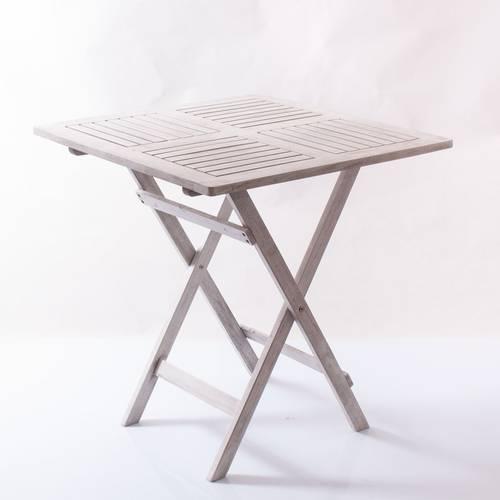 Tavolino legno bianco pieghevole 68x68