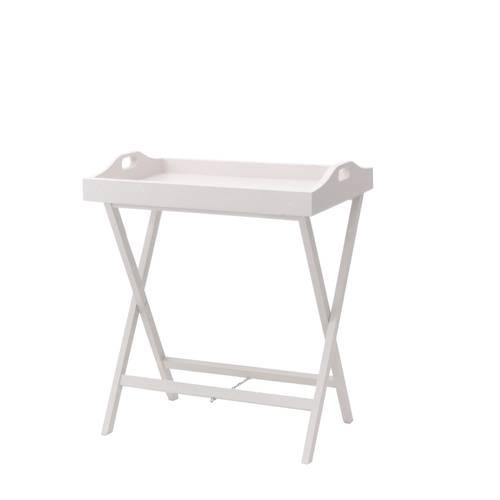 Tavolino vassoio bianco con cavalletto
