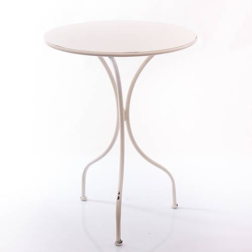 Tavolo ferro bianco bistrot cm59