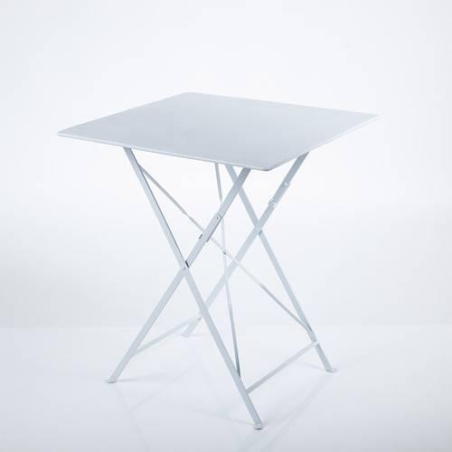 Tavolo quadrato ferro bianco liscio 60x60