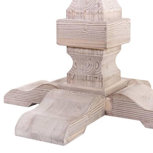 Tavolo pranzo tondo legno abete spazzolato cm130