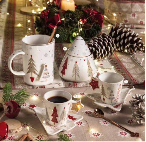 Mug tazza fiocco di neve porcellana