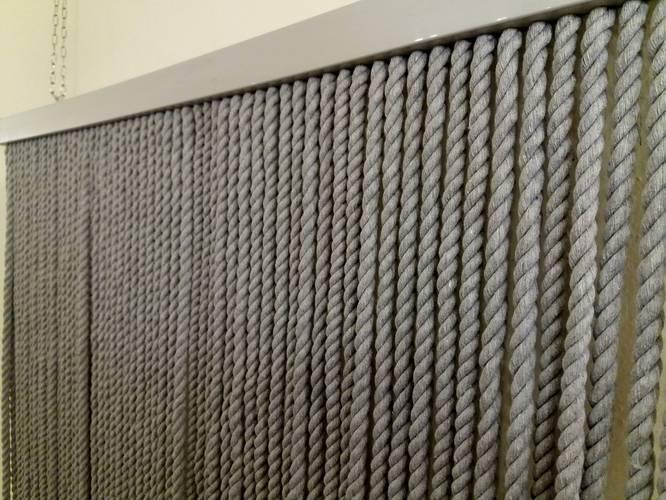 Tenda da porta corda cotone grigio 125x240