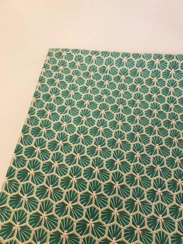 Tovaglia plastificata verde disegno riad