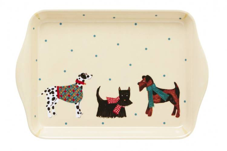Vassoio piccolo cani melamina Ulster Weavers 21x14