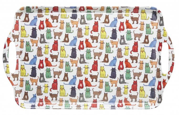 Vassoio gatti melamina 48x30