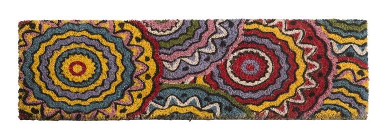 Zerbino scalino cocco boho cerchi colorati 24x70